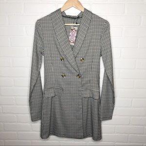 Boohoo Plaid Blazer Dress UK 10
